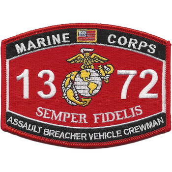 MOS 1372 Assault Breacher Vehicle Crewman Patch