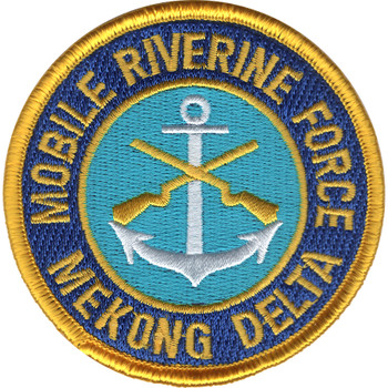 Mobile Riverine Force Mekong Delta Patch -MRF Small Version