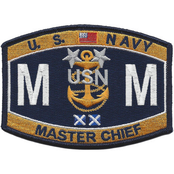 MMCM Master Chief Machinist Mate Rating Patch