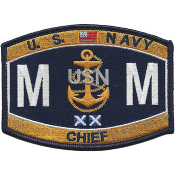 MMC Chief Machinist Mate Rating Patch