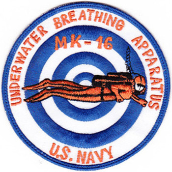 MK-16 Underwater Breathing Apparatus Mark 16 Patches