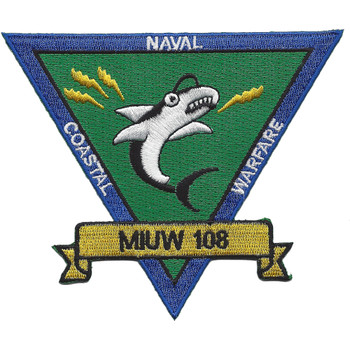 MIUW-108 Mobile Inshore Undersea Warfare Unit Patch