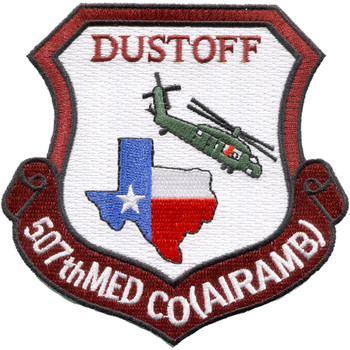 507th Medical Company Air Ambulance Dustoff Unit Patch