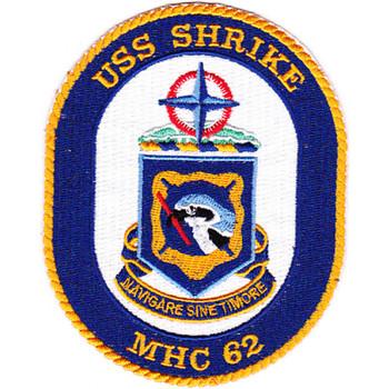 MHC-62 USS Shrike Patch