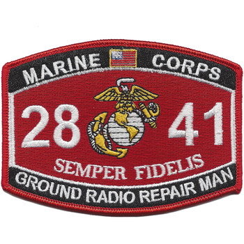 Military Occupational Specialty 2841 Ground Radio Repair Man MOS Patch