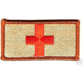 Medic Red Cross Patch - Desert