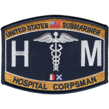 Medical Rating Submarine Hospital Corpsman Patch