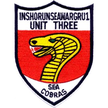 IUW-1 Unit-3 Inshore Underwater Warfare Group One Patch