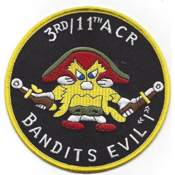 I Troop 3rd Squadron 11Th Armored Cavalry Regiment Patch