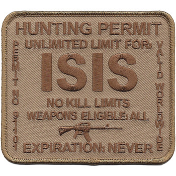 ISIS Hunting Permit Desert Patch