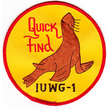 IUWG-1 Inshore Undersea Warfare Group One Patch Quick Find
