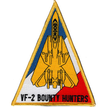 F-14 Tomcat Squadron VF-2 Triangle Patch Hook And Loop