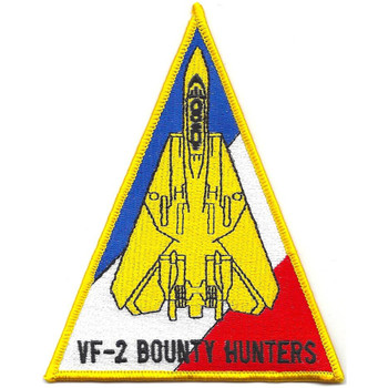 F-14 Tomcat Squadron Patch VF-2 Bounty Hunters Triangle