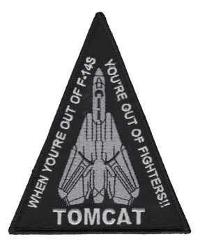 US Navy Tomcat F-14 Naces Ejection Seat Sign Patch DANGER DANGER  NEW!!!