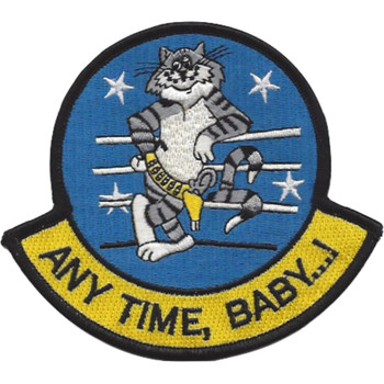 F-14D Tomcat Patch Any Time Baby