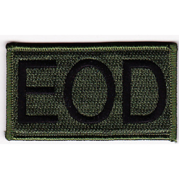 Explosive Ordnance Disposal Tab EOD OD Patch Hook And Loop