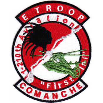 E Troop 1st Battalion 210th Aviation Attack Helocopter Regiment Patch