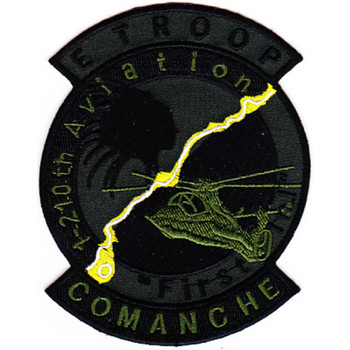 E Troop 1st Battalion 210th Aviation Attack Helicopter Regiment Patch OD