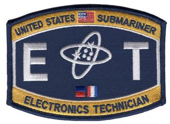 ET Deck Rating Submarine Electronics Technician Patch
