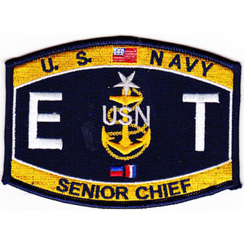 ETCS Electronics Technician Senior Chief Petty Office Patch