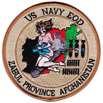 EOD Explosives Ordinance Disposal Zabul Province Afghanistan Desert Patch
