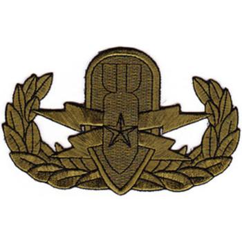 EOD Explosive Ordnance Disposal Senior Badge OD Patch