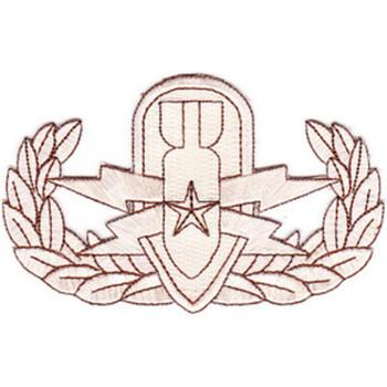EOD Explosive Ordnance Disposal Senior Badge Desert Patch