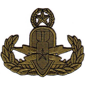 EOD Explosive Ordnance Disposal Master Badge OD Patch
