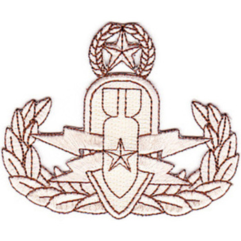 EOD Explosive Ordnance Disposal Master Badge Desert Patch