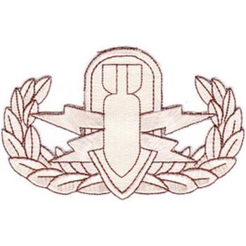 EOD Explosive Ordnance Disposal Basic Badge Desert Patch