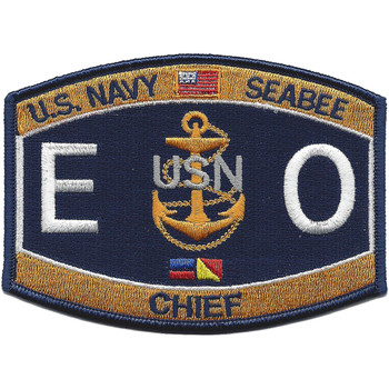 EOC Navy Chief Equipment Operator Patch
