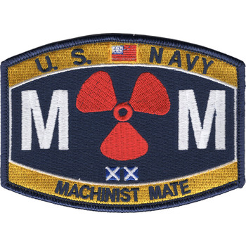 Machinist Mate Rating Hat Patch