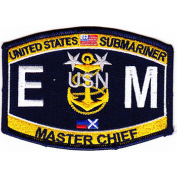 EMCM-SS Submarine Master Chief Electrician's Mate(SS) Patch