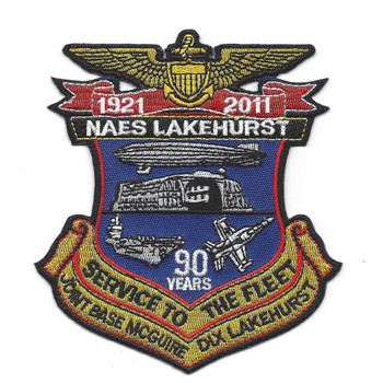 NAES Lakehurst New Jersy Patch 90 Years