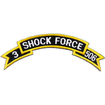 506th Airborne Infantry Regiment 3rd Battalion Patch Rocker - D Version