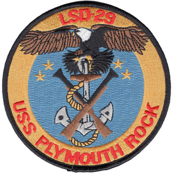 LSD-29 USS Plymouth Rock Patch
