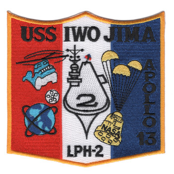 LPH-2 USS Iwo Jima Patch Apollo 13 Recovery
