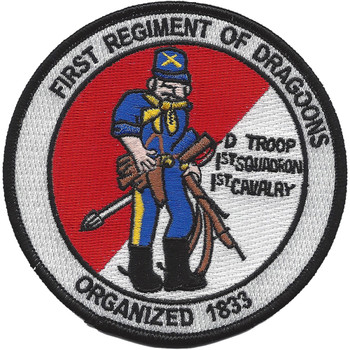 D Troop 1st Squadron 1st Cavalry Patch