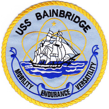 DLG(N)-25 USS Bainbridge Nuclear Leader Patch
