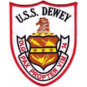 DLG-14 USS Dewey Farragut Class Leader Patch
