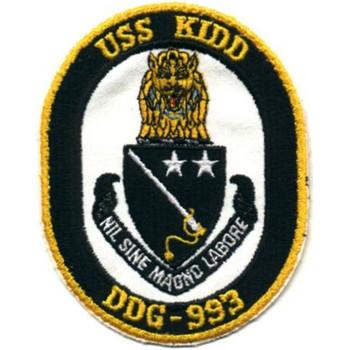 DDG-993 USS Kidd Patch