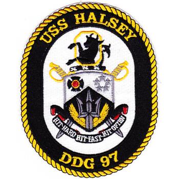 DDG-97 Halsey Patch