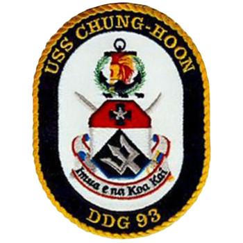 DDG-93 USS Chung-Hoon Patch