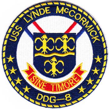 DDG-8 USS Lynde Mcgormick Patch