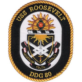 DDG-80 USS Roosevelt Patch