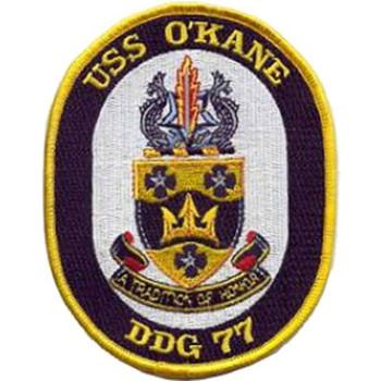 DDG-77 USS O'Kane MOH Patch
