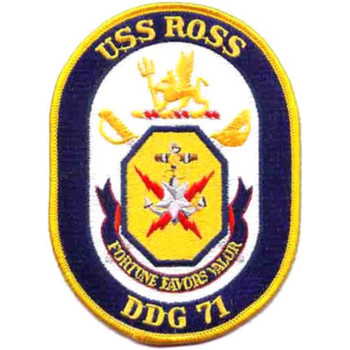 DDG-71 USS Ross guided Patch