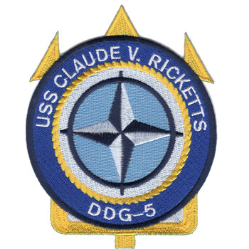 DDG-5 USS Claude V Ricketts Patch