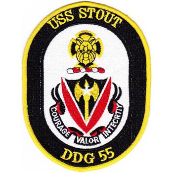 DDG-55 USS Stout Patch