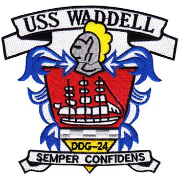 DDG-24 USS Waddell Patch